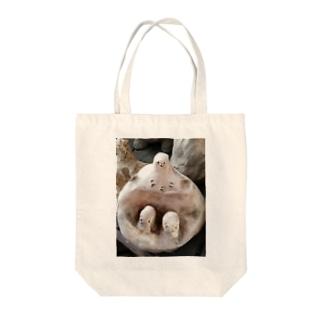 ゆげ Tote bags