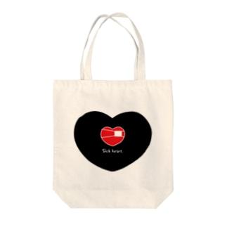 Sick heart. Tote bags