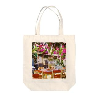 ミコノス島の昼下がり Tote bags