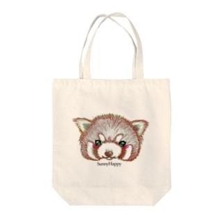レッサーパンダさん Tote bags
