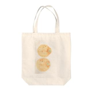 夫婦デコポン Tote bags