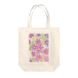 紫花火 Tote bags