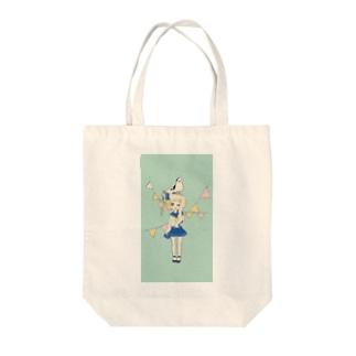 マリンガール Tote bags