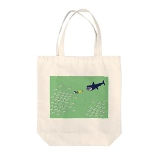 イワシグリーン Tote bags