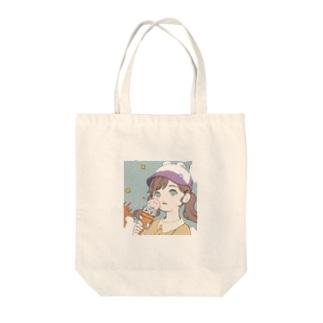ペロ Tote bags