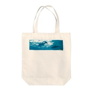 🐬ඩොල්ෆින් සමඟ Tote bags