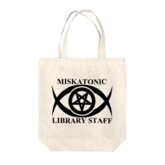 MISKATONIC LIBRARY STAFF Tote bags