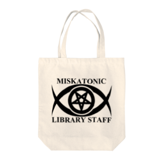 AURA_HYSTERICAのMISKATONIC LIBRARY STAFF Tote bags