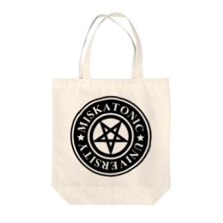 MISKATONIC UNIVERSITY Tote bags