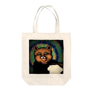 Shokupan Shopの大きな食パンと猫 Tote bags