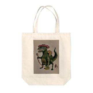 シャンプーハットカゲ  Tote bags