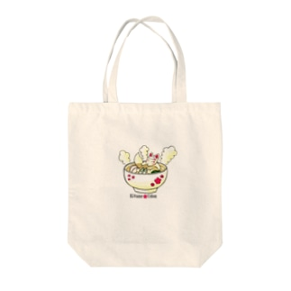 Kitune Udon(梅吉ver) Tote bags