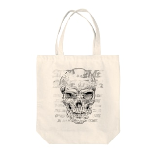 STAY HOME、SAVE LIVES。 髑髏 Tote bags