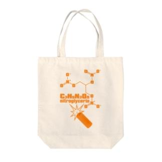 nitroglycerin Tote bags