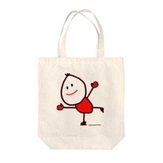 スケートくん Tote bags