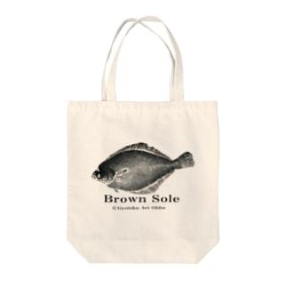 マガレイ!【真鰈:Gyotaku】 Tote bags