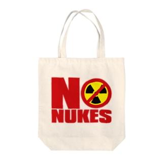 NO_NUKES Tote bags