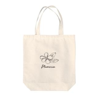 プルメリア Tote bags