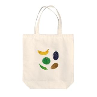 バナナ、カボチャ、などなど Tote bags