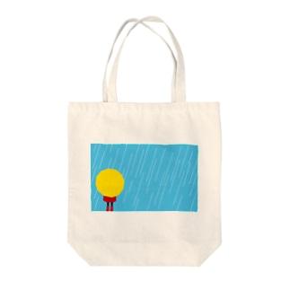 雨の日 Tote bags