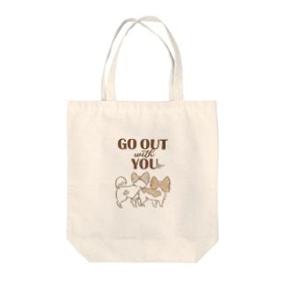 キノコとどんぐり Tote bags