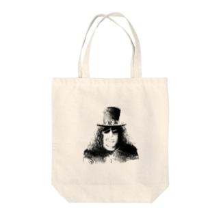 ハードロックギタリスト スラッシュ Tote bags