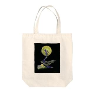 タツ月富士フトマニ Tote bags