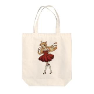 けものの耳がはえた女の子 Tote bags