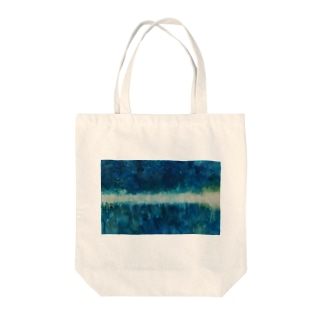 Forest_Oil painting Tote bags