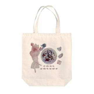 おりぼんちゃんと灰皿とチョコ Tote bags