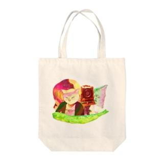 自撮り20XX Tote bags