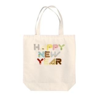干支アップHAPPY NEW YEAR-animal up-アニマルアップ- Tote bags