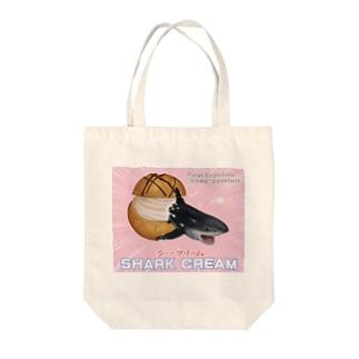シャークリーム Tote bags