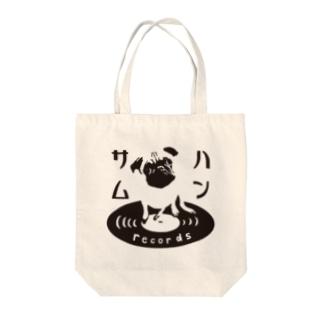 ハンサムレコードロゴ(黒) Tote bags