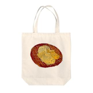 たい焼きペロリ Tote bags