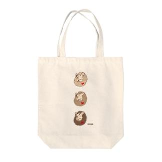 伊の屋の3匹のハリネズミまめまめ Tote bags