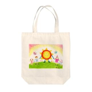 太陽の子Sunny Tote bags