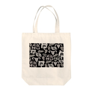 Internal Organ mono Tote bags