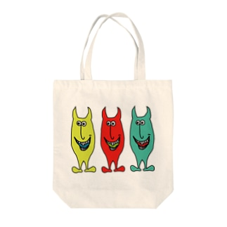 あくまくん Tote bags