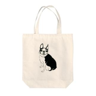 ボストンテリアちび Tote bags