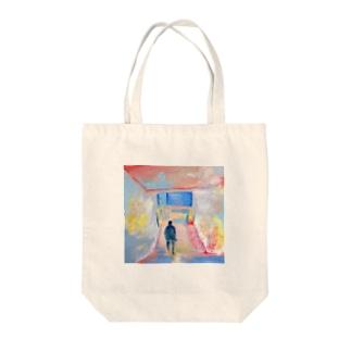 Nakazakicho-Subway Tote bags