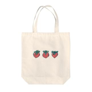 いちご3粒 Tote bags