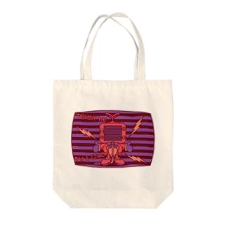 TV_MAN Tote bags