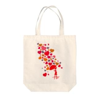 Falling_in_Love Tote bags