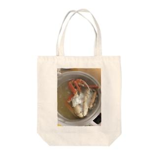 飯テログッズ2〜カニ鍋〜 Tote bags