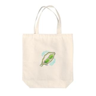 ソラマメ Tote bags