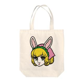 うさガール Tote bags