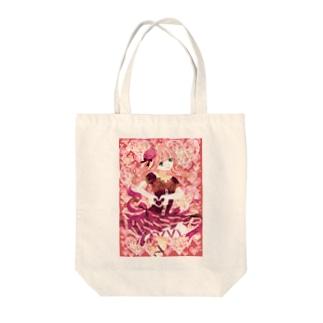 ハートとリボンと少女 Tote bags
