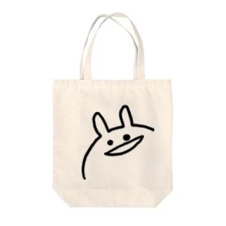 はらたつうさぎステッカー(アップ顔) Tote bags