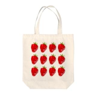 ポリゴンなイチゴ。 大 Tote bags